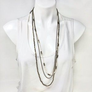 Women's 3 Layer Beaded Necklace